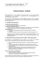 Kassenrichtlinie 2013 - lehner.org: lehner.org