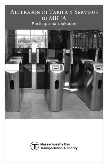 Alterason di Tarifa y Servisus di MBTA - MBTA.com