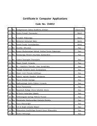 Certificate in Computer Applications Code No. 154012