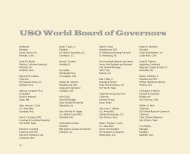 USO World Board of Governors