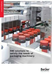 HMI solutions to satisfy the needs of packaging machinery - Beijer ...