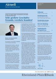 Download Newsletter 5, Dezember 2010 - Rheinland Pfalz Bank