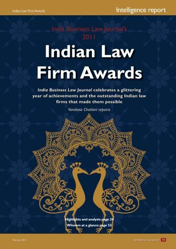 Indian Law Firm Awards - India Business Law Journal