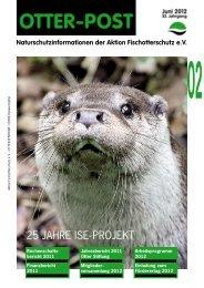Mitgliederinformationen OTTER-POST, Ausgabe Juni - 2/2012