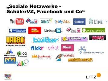 """""""Soziale Netzwerke - SchülerVZ, Facebook und Co"""""""