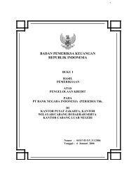 PT Bank Negara Indonesia - Badan Pemeriksa Keuangan