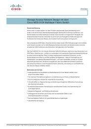 Storage Access Network Design mit dem Cisco MDS ... - Ingram Micro