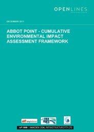 abbot point - cumulative environmental impact assessment framework
