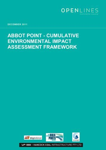 abbot point - cumulative environmental impact assessment framework