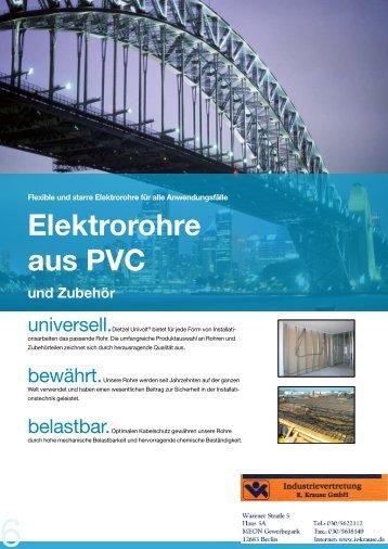 Elektrorohre aus PE und PVC - Dietzel Univolt