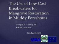 The Use of Low Cost Breakwaters for Mangrove Restoration in ...