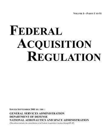 federal aquisition regulation - Acquisition Central