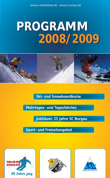 programm 2008/2009 programm 2008/2009 - SC-Burgau