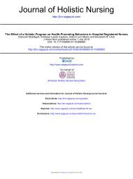 Journal of Holistic Nursing (PDF) - Frances Payne Bolton School of ...