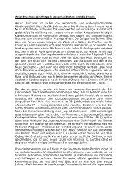Anton Bruckner, sein Antipode Johannes Brahms und ... - Theater Ulm