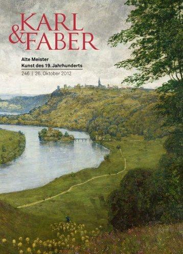 Alte Meister Kunst des 19. Jahrhunderts 246 | 26 ... - Karl & Faber