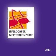 Broschüre 2013 - Iffeldorfer Meisterkonzerte