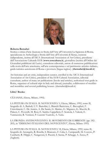 Storica e critica d'arte (laureata in Storia - Eventi artistici in Italia
