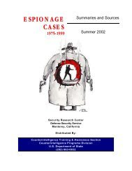 Espionage Cases 1975 to 1999 - 2002 - Higgins Counterterrorism ...