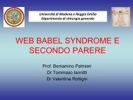 web babel syndrome e secondo parere - Medico Cura Te Stesso