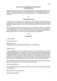 1 Satzung über die Festlegung von Schulbezirken in ... - Stadt Lehrte