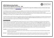 APA Referencing Guide -