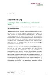 Medienmitteilung - Nationale Suisse