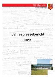 Jahrespressebericht 2011 - beim Landkreis Vechta