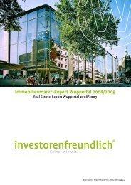Immobilienmarkt-Report Wuppertal 2008/2009 - kompetenzhoch3