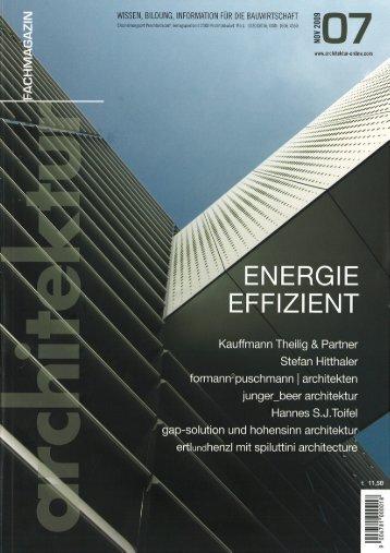 Fachmagazin Architektur L´Aquila - Binderholz