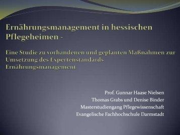 Ernährungsmanagement in hessischen Pflegeheimen - Deutsche ...