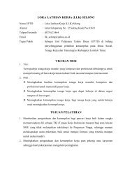 loka latihan kerja - Pemerintah Daerah Kabupaten Lombok Timur