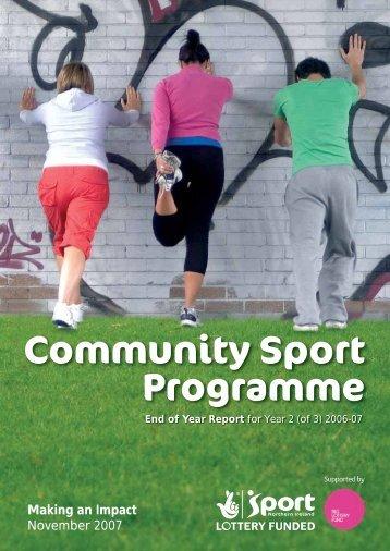 Community Sport Programme - Sport Northern Ireland