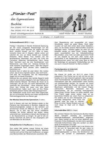 Pionierpost Ausgabe 3-2012-2013 - Gymnasium in Buchloe