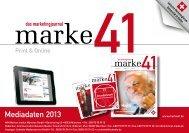 Mediadaten - marke41