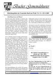 Gemeindekurier 11 v. 03.11.2009 - Buch am Wald