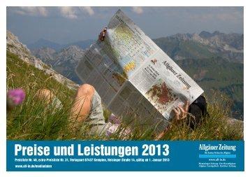 Mediadaten 2013 Gesamt - All-in.de