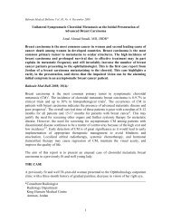 Unilateral Symptomatic Choroidal Metastasis as the Initial - Bahrain ...