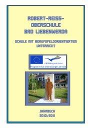 Jahrbuch des Schuljahres 2010-2011 - Robert-Reiss Oberschule