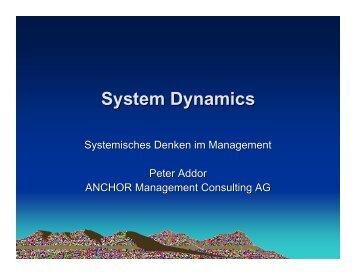 Systemisches Denken im Management - Anchor Consulting