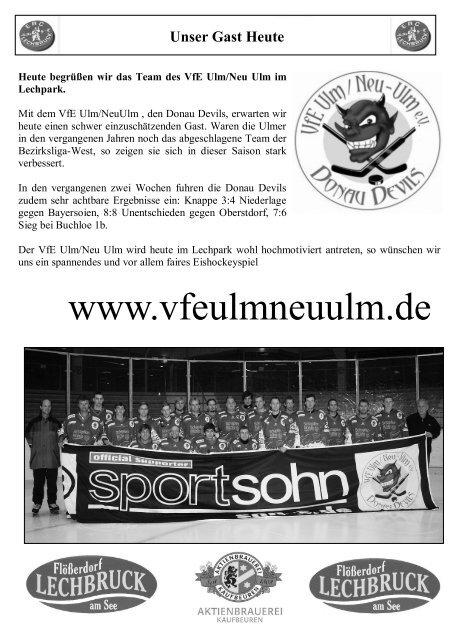 VfE Ulm/Neu-Ulm - ERC Lechbruck