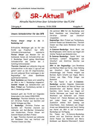 SR-Aktuell 4 -2008 - Fußball und Leichtathletik Verband Westfalen eV
