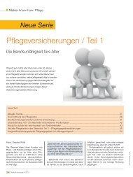 Pflegeversicherungen / Teil 1 - Finanz-Archiv