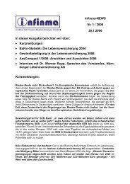 In dieser Ausgabe berichten wir über - infinma - Institut für Finanz ...