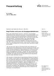 Birgit Fischer wird neue vfa-Hauptgeschäftsführerin