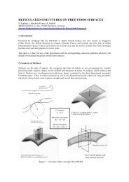 reticulated structures on free-form surfaces - MERO-TSK ...