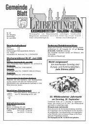 33. Wildensteiner Jahrmarkt Nicht vergessen! - Leibertingen