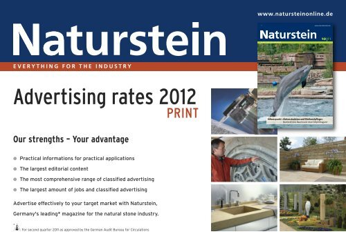 Advertising rates 2012 - Ebner Verlag GmbH & Co KG