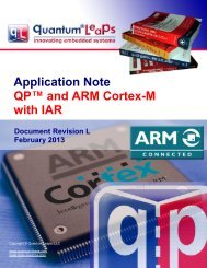 QP and ARM Cortex-M with IAR - State - Quantum Leaps