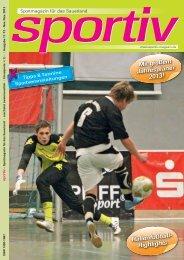 Hallenfußball- Highlights Mit großem Jahresplaner 2013! - Sportiv